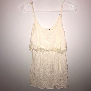 Cute F21 White Sun Dress